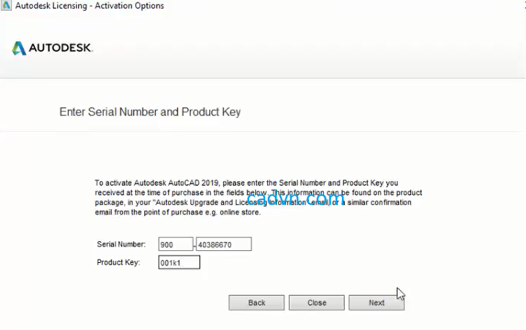 autodesk revit 2019 serial number and product key